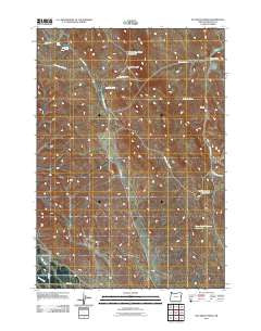 McCarthy Ridge Oregon Historical topographic map, 1:24000 scale, 7.5 X 7.5 Minute, Year 2011