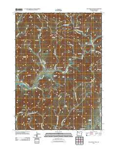 McConville Peak Oregon Historical topographic map, 1:24000 scale, 7.5 X 7.5 Minute, Year 2011