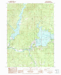 Mc Leod Oregon Historical topographic map, 1:24000 scale, 7.5 X 7.5 Minute, Year 1988