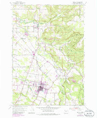 Molalla Oregon Historical topographic map, 1:24000 scale, 7.5 X 7.5 Minute, Year 1954