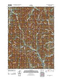Mount Isabelle Oregon Historical topographic map, 1:24000 scale, 7.5 X 7.5 Minute, Year 2011