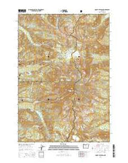 Mount Jefferson Oregon Current topographic map, 1:24000 scale, 7.5 X 7.5 Minute, Year 2014 from Oregon Maps Store