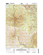 Mount Washington Oregon Current topographic map, 1:24000 scale, 7.5 X 7.5 Minute, Year 2014 from Oregon Map Store