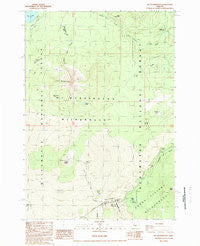 Mt. Washington Oregon Historical topographic map, 1:24000 scale, 7.5 X 7.5 Minute, Year 1988