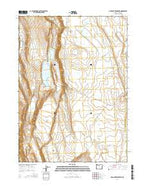 Mud Lake Reservoir Oregon Current topographic map, 1:24000 scale, 7.5 X 7.5 Minute, Year 2014 from Oregon Map Store