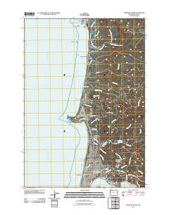 Newport North Oregon Historical topographic map, 1:24000 scale, 7.5 X 7.5 Minute, Year 2011
