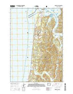 Newport South Oregon Current topographic map, 1:24000 scale, 7.5 X 7.5 Minute, Year 2014 from Oregon Map Store