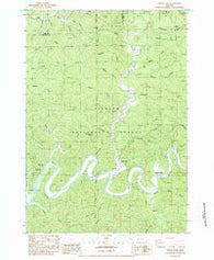 North Fork Oregon Historical topographic map, 1:24000 scale, 7.5 X 7.5 Minute, Year 1984