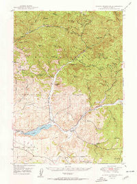 Ochoco Reservoir Oregon Historical topographic map, 1:62500 scale, 15 X 15 Minute, Year 1950