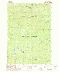 Olive Lake Oregon Historical topographic map, 1:24000 scale, 7.5 X 7.5 Minute, Year 1988