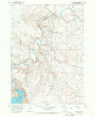 Owyhee Dam Oregon Historical topographic map, 1:24000 scale, 7.5 X 7.5 Minute, Year 1967