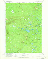 Packsaddle Mtn Oregon Historical topographic map, 1:24000 scale, 7.5 X 7.5 Minute, Year 1963