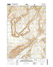 Paulina Oregon Current topographic map, 1:24000 scale, 7.5 X 7.5 Minute, Year 2014 from Oregon Maps Store