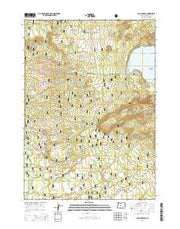 Paulina Peak Oregon Current topographic map, 1:24000 scale, 7.5 X 7.5 Minute, Year 2014 from Oregon Maps Store