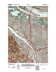 Portland Oregon Historical topographic map, 1:24000 scale, 7.5 X 7.5 Minute, Year 2011