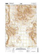 Poverty Basin North Oregon Current topographic map, 1:24000 scale, 7.5 X 7.5 Minute, Year 2014 from Oregon Map Store
