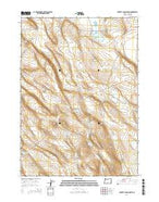 Poverty Basin South Oregon Current topographic map, 1:24000 scale, 7.5 X 7.5 Minute, Year 2014 from Oregon Map Store