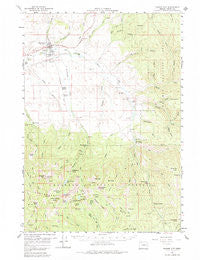 Prairie City Oregon Historical topographic map, 1:62500 scale, 15 X 15 Minute, Year 1959