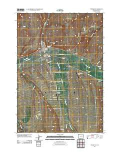 Prairie City Oregon Historical topographic map, 1:24000 scale, 7.5 X 7.5 Minute, Year 2011