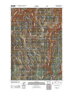 Promise Oregon Historical topographic map, 1:24000 scale, 7.5 X 7.5 Minute, Year 2011