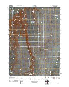 Rattlesnake Canyon Oregon Historical topographic map, 1:24000 scale, 7.5 X 7.5 Minute, Year 2011