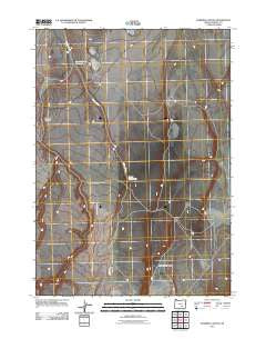 Rawhide Canyon Oregon Historical topographic map, 1:24000 scale, 7.5 X 7.5 Minute, Year 2011