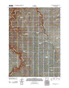 Rawhide Pocket Oregon Historical topographic map, 1:24000 scale, 7.5 X 7.5 Minute, Year 2011