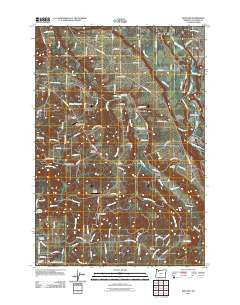Redland Oregon Historical topographic map, 1:24000 scale, 7.5 X 7.5 Minute, Year 2011