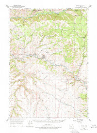 Ritter Oregon Historical topographic map, 1:62500 scale, 15 X 15 Minute, Year 1950