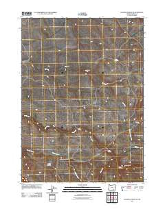Roaring Springs SE Oregon Historical topographic map, 1:24000 scale, 7.5 X 7.5 Minute, Year 2011