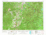 Roseburg Oregon Historical topographic map, 1:250000 scale, 1 X 2 Degree, Year 1958