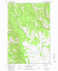Sanderson Spring Oregon Historical topographic map, 1:24000 scale, 7.5 X 7.5 Minute, Year 1963
