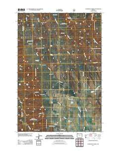 Sanderson Spring Oregon Historical topographic map, 1:24000 scale, 7.5 X 7.5 Minute, Year 2011