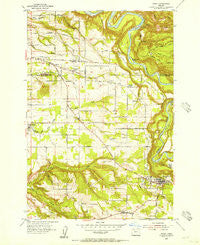 Sandy Oregon Historical topographic map, 1:24000 scale, 7.5 X 7.5 Minute, Year 1954