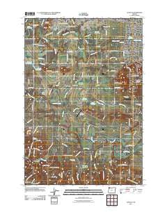 Scholls Oregon Historical topographic map, 1:24000 scale, 7.5 X 7.5 Minute, Year 2011
