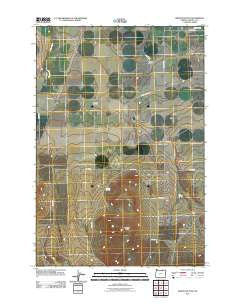 Service Buttes Oregon Historical topographic map, 1:24000 scale, 7.5 X 7.5 Minute, Year 2011