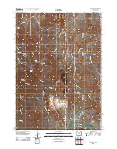 Sheaville Oregon Historical topographic map, 1:24000 scale, 7.5 X 7.5 Minute, Year 2011