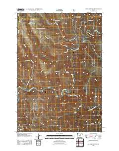 Slickear Mountain Oregon Historical topographic map, 1:24000 scale, 7.5 X 7.5 Minute, Year 2011