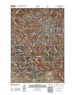 Sparta Butte Oregon Historical topographic map, 1:24000 scale, 7.5 X 7.5 Minute, Year 2011