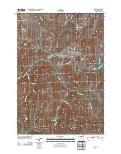 Spray Oregon Historical topographic map, 1:24000 scale, 7.5 X 7.5 Minute, Year 2011
