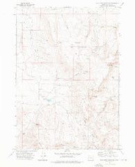 Star Creek Reservoir Oregon Historical topographic map, 1:24000 scale, 7.5 X 7.5 Minute, Year 1972