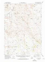 Stockade Mtn Oregon Historical topographic map, 1:62500 scale, 15 X 15 Minute, Year 1972