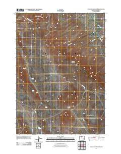 Stockade Mountain Oregon Historical topographic map, 1:24000 scale, 7.5 X 7.5 Minute, Year 2011