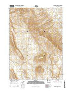 Stockade Mountain Oregon Current topographic map, 1:24000 scale, 7.5 X 7.5 Minute, Year 2014 from Oregon Map Store
