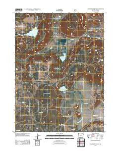 Strawberry Butte Oregon Historical topographic map, 1:24000 scale, 7.5 X 7.5 Minute, Year 2011