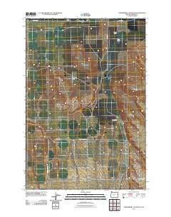 Strawberry Canyon NE Oregon Historical topographic map, 1:24000 scale, 7.5 X 7.5 Minute, Year 2011