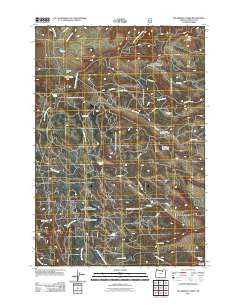 Sugarbowl Creek Oregon Historical topographic map, 1:24000 scale, 7.5 X 7.5 Minute, Year 2011