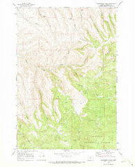 Summerfield Ridge Oregon Historical topographic map, 1:24000 scale, 7.5 X 7.5 Minute, Year 1969