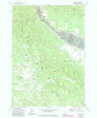 Sumpter Oregon Historical topographic map, 1:24000 scale, 7.5 X 7.5 Minute, Year 1972