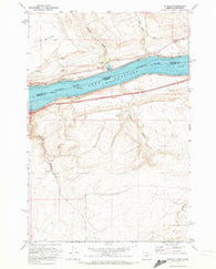 Sundale Washington Historical topographic map, 1:24000 scale, 7.5 X 7.5 Minute, Year 1971